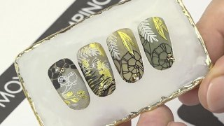 Spectacular nature-like stamping with nail foil