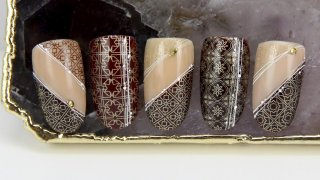 Elegant nail art with mystic patterns
