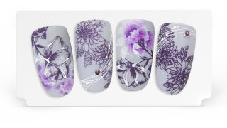 Exotic flowers with stamping and watercolours