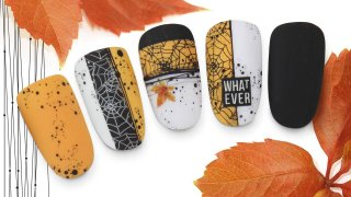 Autumn stamping decoration with different methods
