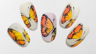 Gel painted, vibrant, vivid, sharming butterflies