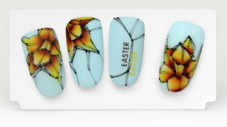 Narcissus nail art for Spring and Easter