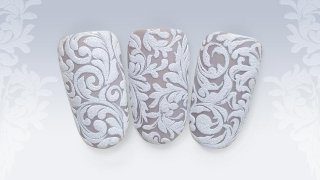 Gel painted, beautiful, ornamentic stamping