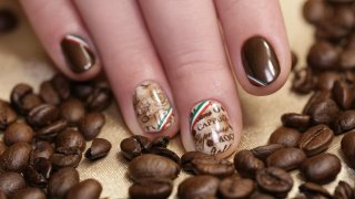 Coffee Nails - Nail Art Italian Patterns