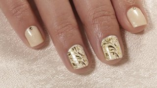 Wedding Nails With Stamping And Nail Foil