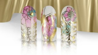 Colourful Nail Stamping with Magic Foil