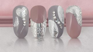 French nails with stamping